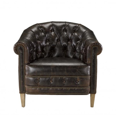 Curations Limited Chambery Leather Armchair