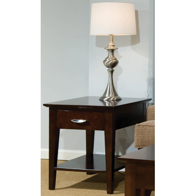 Durham Metro Drawer End Table With Shelf