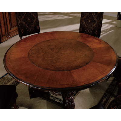 Eastern Legends 59185 Tuscano 84 Inch Round Dining Table With Lazy