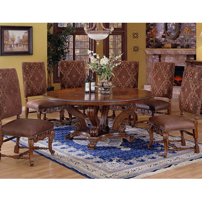 84 inch round dining table rustic eastern legends 59185 tuscano 84 inch round dining table with lazy susan