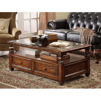 Eastern Legends Coffee Table Glass Top