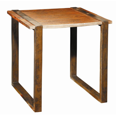 Furniture Classics Limited Old Elm and Iron Side Table