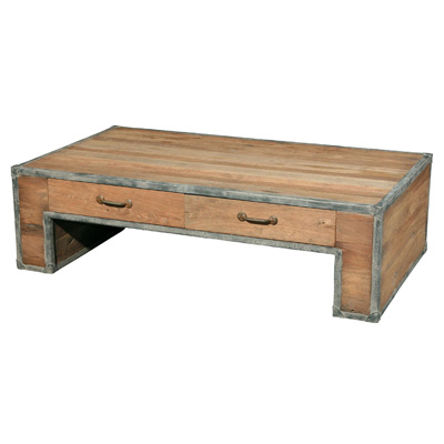 Furniture Classics Limited Iron and Elm Coffee Table