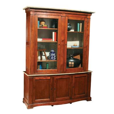 Furniture Classics Limited Cherry Bowfront Cabinet