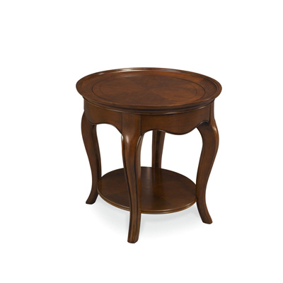 Hammary Oval End Table With Wood Top