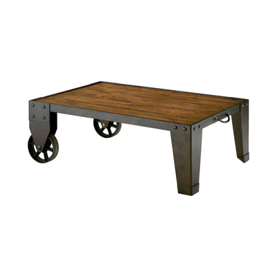 Hammary Industrial Cart Cocktail Accent Table