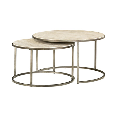 Hammary Round Nesting Cocktail Table
