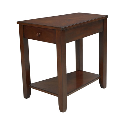 Hammary Chairside Table dark Oak