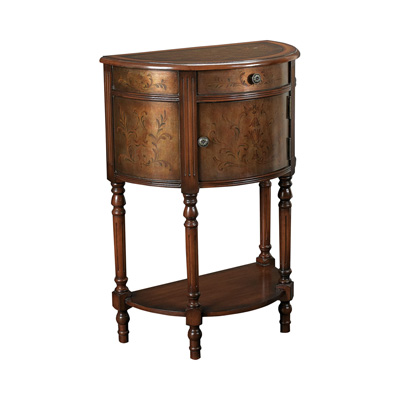 Hammary t73711 00 hidden treasures demilune accent table for Affordable furniture and treasures
