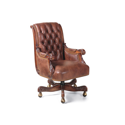 Hancock and Moore Tufted Swivel-Tilt Chair