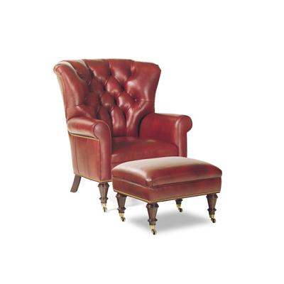 Hancock and Moore Kane Chair and Ottoman