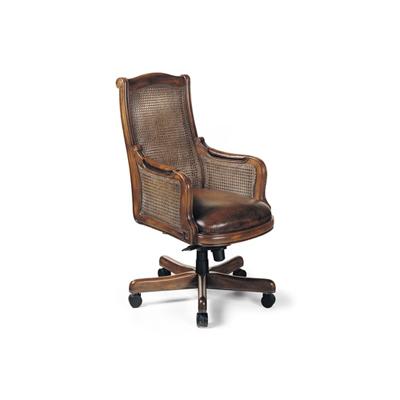 Hancock and Moore Cane Back Swivel Tilt Chair