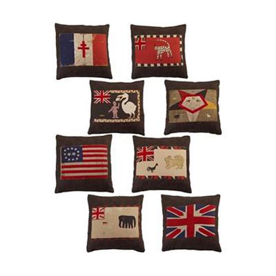 Hickory Chair Set of 8 Folk Art Pillows