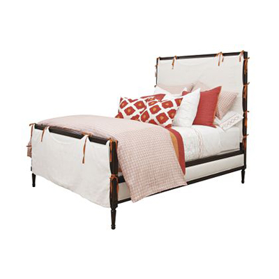 Hickory Chair Candler Queen Bed with Slipcover