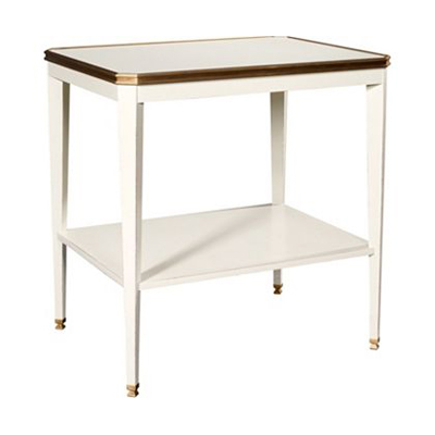 Hickory Chair Austell Side Table with Wood Top