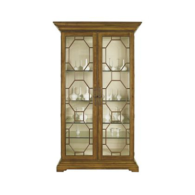 Hickory Chair 2138 71 James River Evan Display Cabinet W Clear Gls Dr Panels Opt Fin