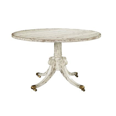 Hickory Chair Newport Single Pedestal Base Optional Finishes