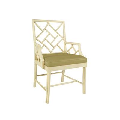 Hickory Chair Fretwork Arm Chair