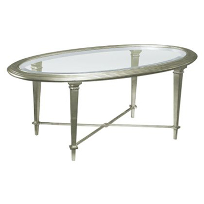 Hickory Chair Bristol Oval Cocktail Table-Silver