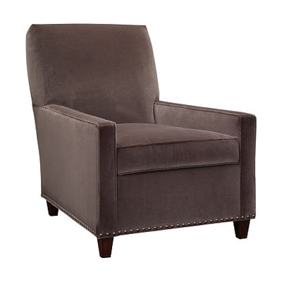 Hickory Chair Silhouettes Narrow Square Arm Chair