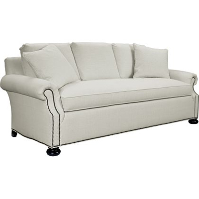 Hickory Chair Silhouettes Slope Panel Arm Sofa