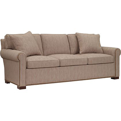Hickory Chair Silhouettes Raised Panel Lawson Arm Sleep Sofa