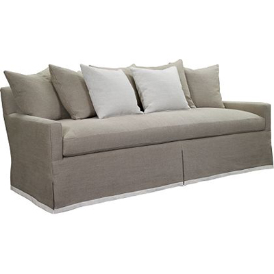 Hickory Chair Silhouettes Sofa with Dressmaker Skirt
