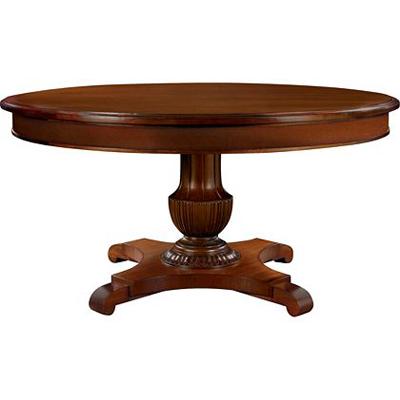 Hickory Chair Gustav Round Table Top Plain Veneer Apron