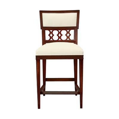Hickory Chair Ilsa Counter Stool Figure-Eight Panel