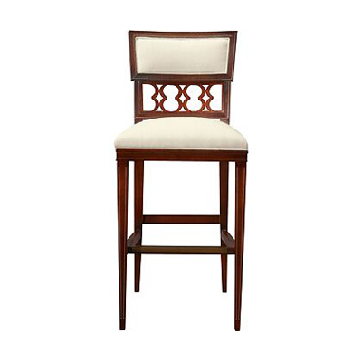 Hickory Chair Ilsa Bar Stool Figure-Eight Panel