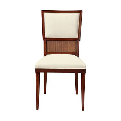 Hickory Chair Ilsa Side Chair Reeded Panel