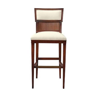 Hickory Chair Ilsa Bar Stool Reeded Panel