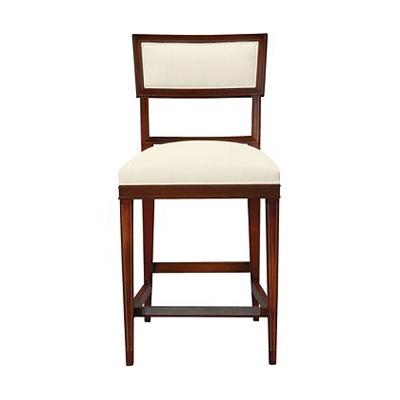 Hickory Chair Ilsa Counter Stool Open Panel