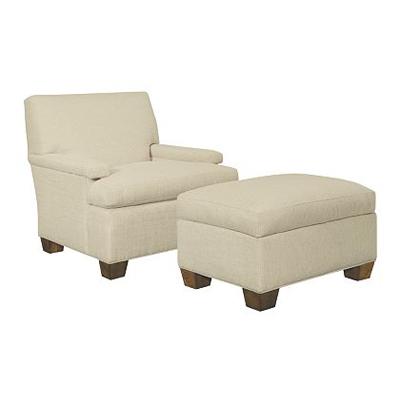 Hickory Chair MacDonald Lounge Chair and Ottoman Exposed Leg