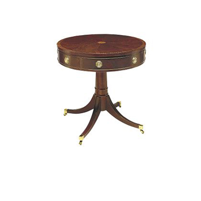 Hickory Chair Pedestal Drum Table