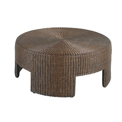 """Hickory Chair 48"""" Wicker Round Coffee Table"""