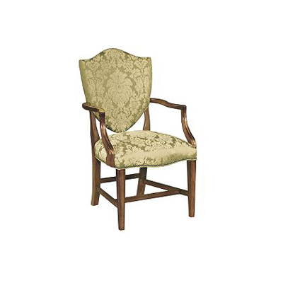 Hickory Chair Centreville Upholstered Back Arm Chair