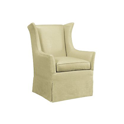 Hickory Chair Jackson Skirted Wing Chair