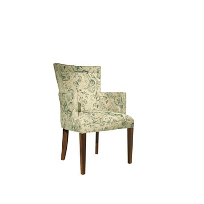 Hickory Chair Flare Back Dining Arm Chair