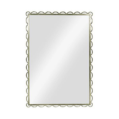 Hickory Chair Scallop Mirror-Silver Leaf