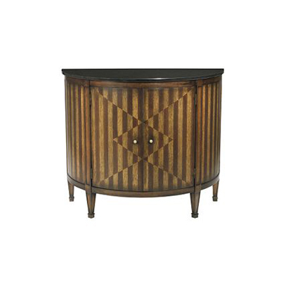 Hickory Chair Continental Demi-Lune Cabinet