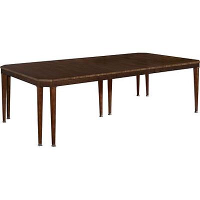 Hickory Chair Artisan Chamfered Corner Mahogany Dining Table