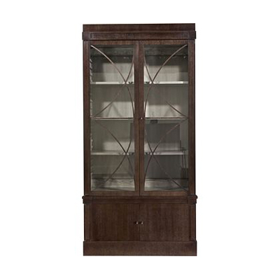 Hickory Chair Artisan 2-Dr Ash Grand Cabinet Deck with Glass Doors