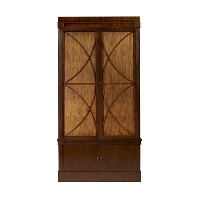 Hickory Chair Artisan 2-Dr Mah Grand Cabinet Deck with Wood Doors