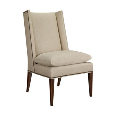 Hickory Chair Martin Host Chair with Loose Cushion with out ArmsMah