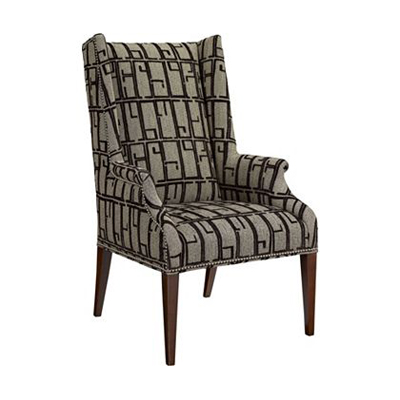 Hickory Chair Martin Host Chair with Tight Seat and Arms - Mah