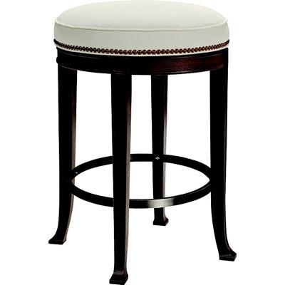 Hickory Chair Newbury Swivel Backless Counter Stool