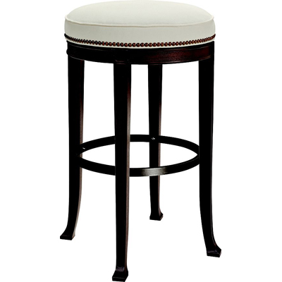 Hickory Chair Newbury Swivel Backless Bar Stool