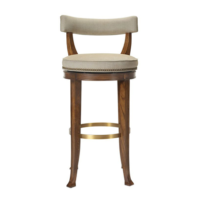 Hickory Chair Newbury Swivel Curved Back Counter Stool