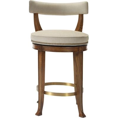 Hickory Chair Newbury Swivel Curved Back Bar Stool